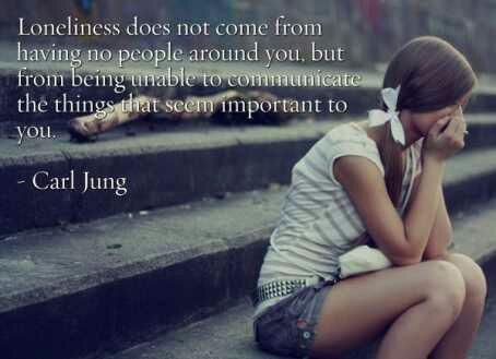 Being happy even in loneliness